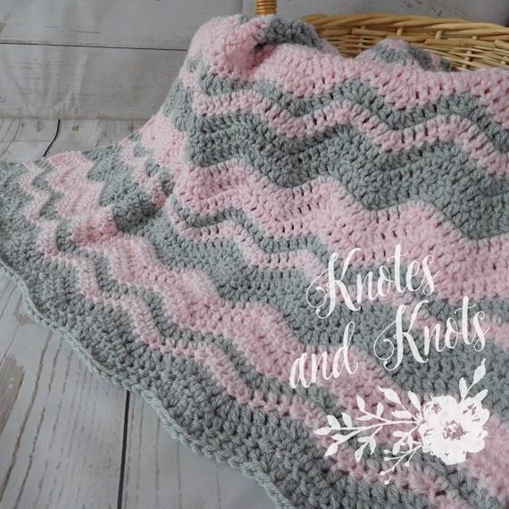 Häkeln Baby Decke Rosa und grau häkeln Babydecke