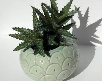 cache pot en céramique ananas