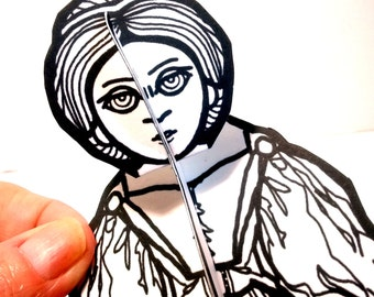 Ada Lovelace Computer Hero Paper Doll - Printable Toy