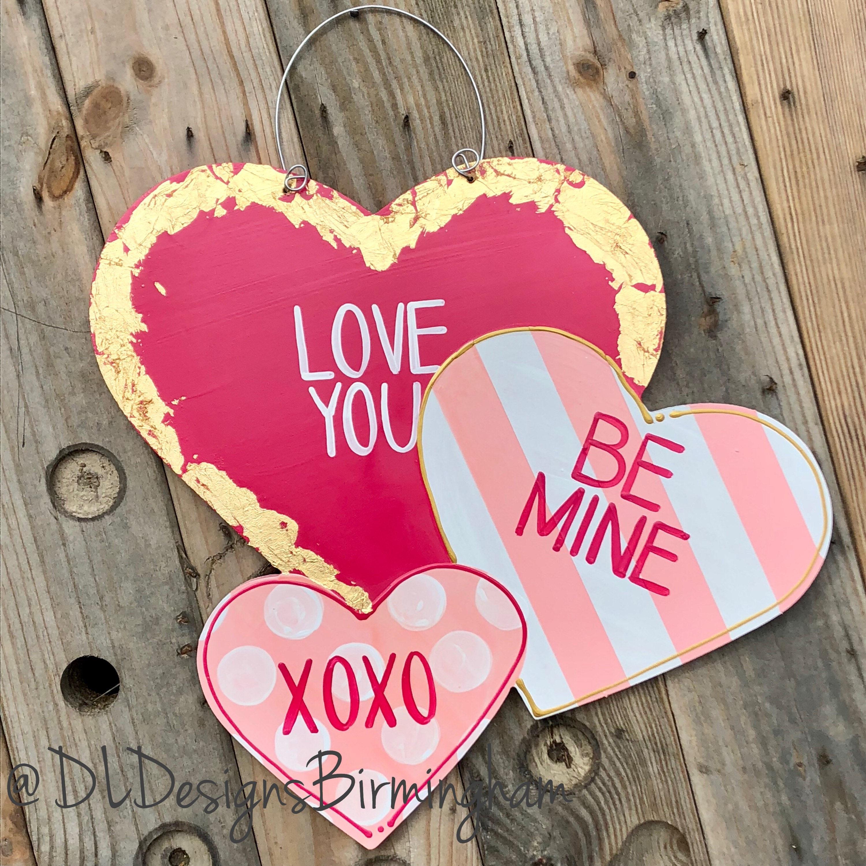 gallery photo gallery photo gallery photo ... & Valentineu0027s Day Heart Door Hanger conversation hearts