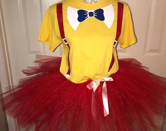 Tweedle dee Tweedle Dum costume cos play cosplay shirt or set boy girl adult or child custom made