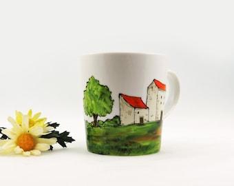 Hand painted porcelain mug - Village Provencal collection