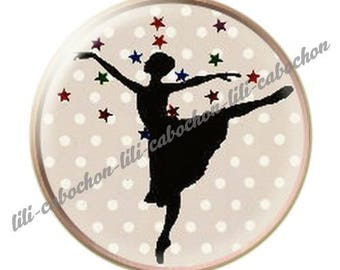 resin cabochon mounted on a stick dancer ballerina 5 25 mm