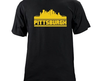 Original Pittsburgh Pennsylvania Skyline Team Colors T-Shirt