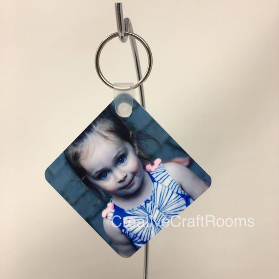 Custom photo keychain, personalized purse photo tag, stocking stuffer, holiday gifts, monogrammed keychain, photo keepsake keychain