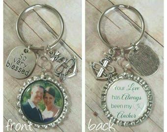 Custom Photo Keyring - Personalized Gift - Keychain for Him - Keychain for Her - Gift for Him - Gift for Her - Anniversary Gift - Birthday