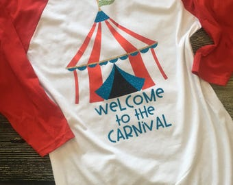 Carnival shirt. Welcome to the carnival baseball tee