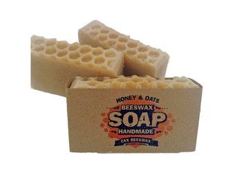 Honey & Oats Natural Handmade Beeswax Soap