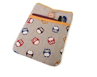 iPad Mini Case, Owls,  iPad Mini 4 Cover, iPad Mini Sleeve, iPad Mini 4 Pouch, iPad Mini 4 Case, iPad Mini Cover, iPad Mini 4 Sleeve yellow