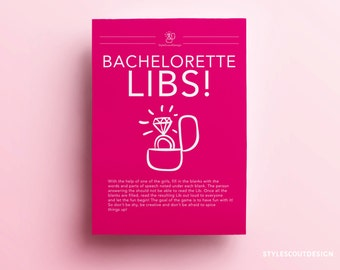 Bachelorette Game Libs! Bachelorette Party Game, Hens Party Night - DIGITAL PRINTABLE