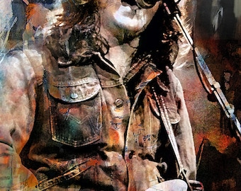 Rory Gallagher, print, poster