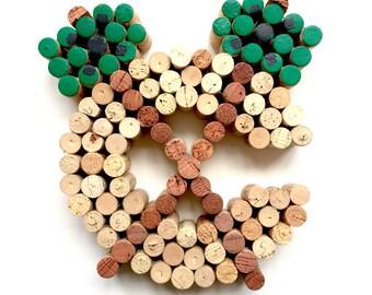 Chicago Blackhawks Wine Cork Art