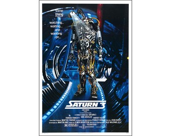 Saturn 3 Movie Poster Print - 1980 - Science Fiction - One (1) Sheet Artwork