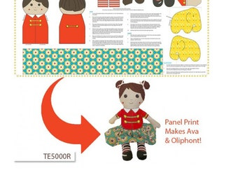 Ava and Oliophont  Doll making panel, size 60cm x 119cm