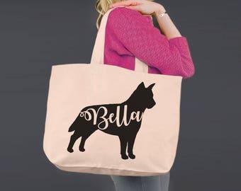 Australian Cattle Dog | Blue Heeler | Tote Bag | Canvas Tote Bag | Beach Tote | Canvas Tote | Shopping Tote Gift | Dog Tote | Korena Loves