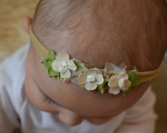 Natural Flowered Headband