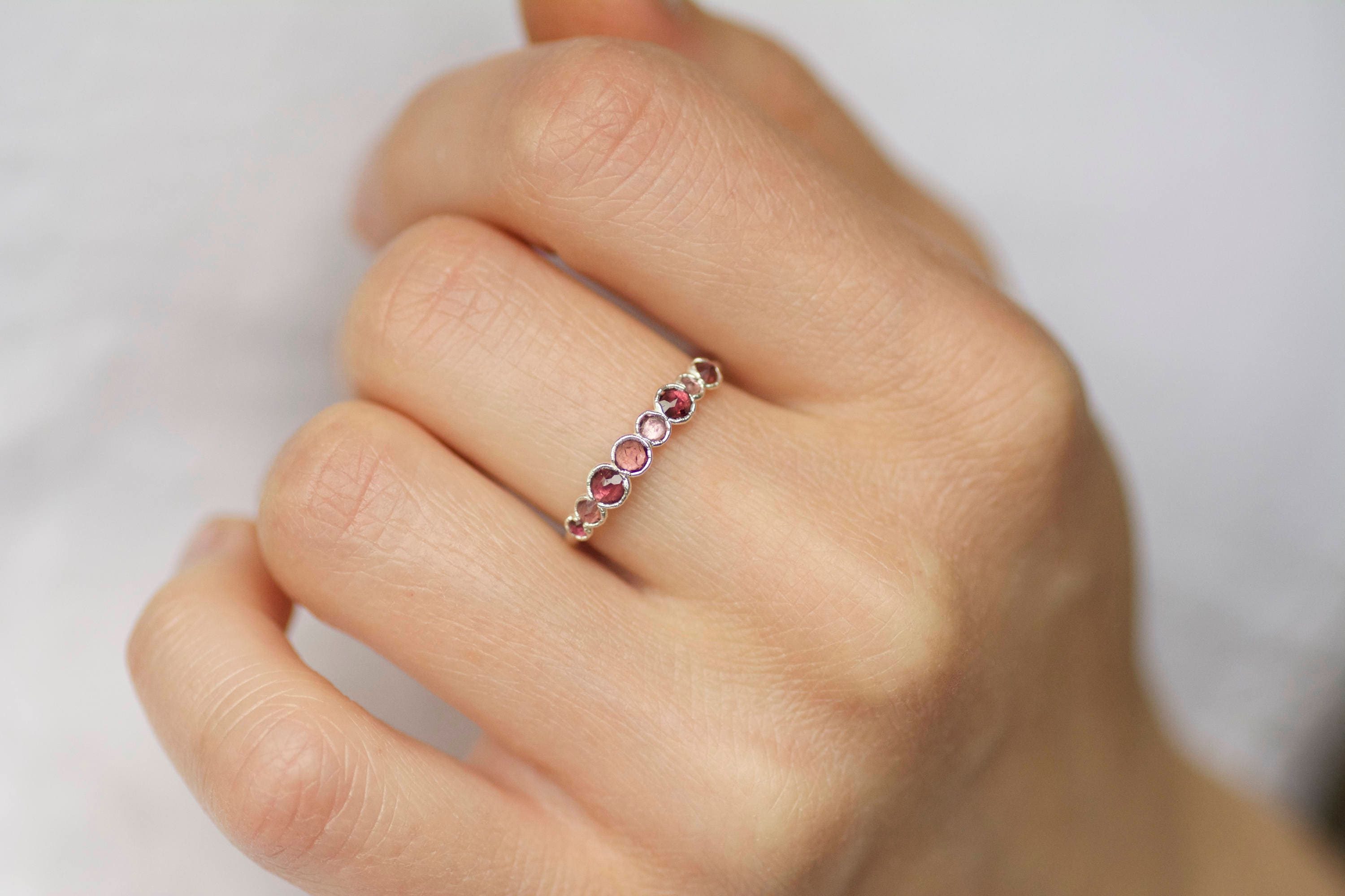 diamond pink of with blue and white in attachment bands band eternity gold rings sapphire lovely