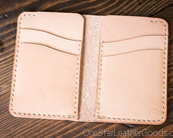 DISCOUNT - 6 Pocket Vertical Wallet - natural veg