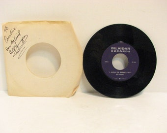 Bill Younger Vintage Vinyl 45RPM Rockabilly 45 Record, Signed Bilvidar Private Label Vancouver EX