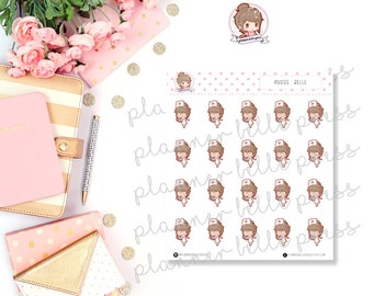 Nurse Belle || Stationary Stickers, Planner Stickers