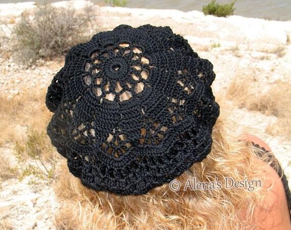 Crochet Pattern 075 Crochet Lace Beret Alena Crochet Hat
