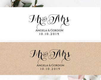Invitation Belly Band Printable Template Wedding Belly Band, Mr and Mrs, DIY Editable printable belly band, Byron, edit in WORD or PAGES