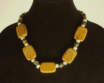 Picture Stone Statement Necklace