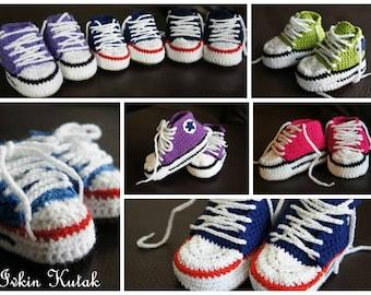 Cutest Baby Crochet Converse Shoes