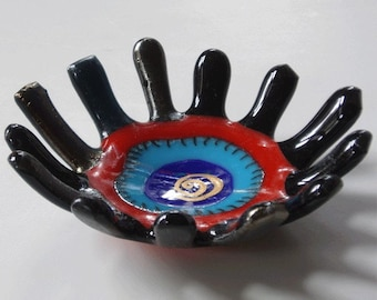 Fused glass bowl - small and precious