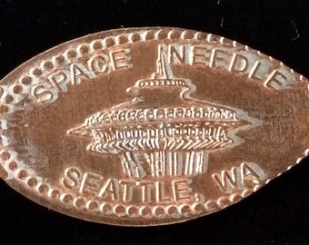 Space Needle I am Seattle Two Sided elongated penny souvenir coin souvenir penny Seattle Washington lucky penny