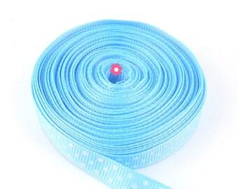 x9m Blue Ribbon striped 10mm (27 (A)