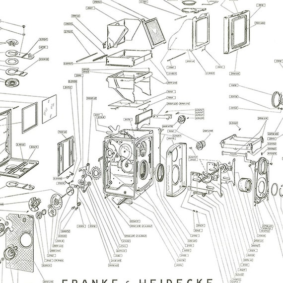 Rolleicord tlr camera poster art print blueprint rolleicord tlr camera poster art print blueprint patent exploited views repair manual malvernweather Image collections