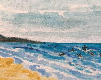 Rockaway Beach Surfer Postcard, Collectible, Cards,