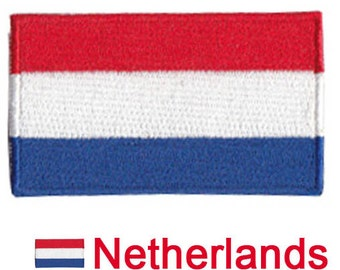 Small Netherlands Flag Iron On Patch 2.5 x 1.5 inch Free Shipping