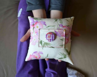 SALE Lalaloopsy tooth fairy pillow Tippy Tumblelina doll button girls mini floral pink ivory green Asian print swan purple Christmas gift