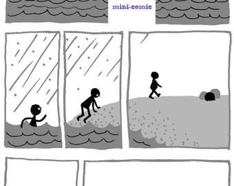 Across My Heart mini comic, PDF Digital Download