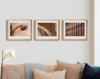 Ochre 3H Print Collection.  Detail photography, brown, terracotta, decor, wall art, artwork, large format photo.
