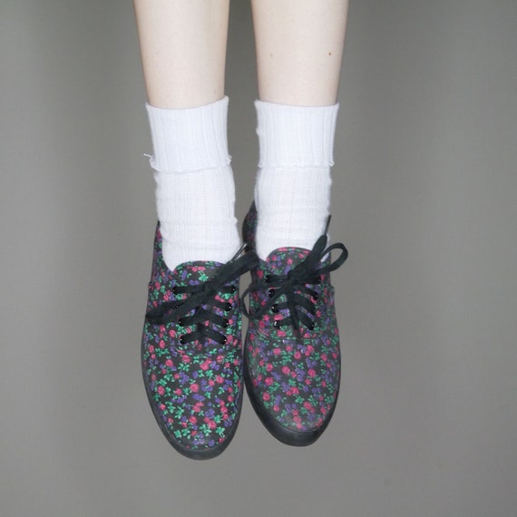 5 lace floral grunge 7 up size 90s sneajers print dark fUqzBBx