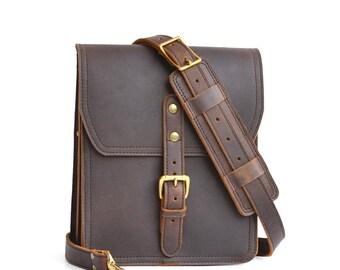 Vertical Leather Satchel, Leather Crossbody Bag, Leather Messenger Bag Men, Leather Bag Women, Shoulder Bag, iPad Bag, Crossbody Purse