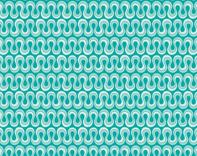 Half Yard Drift - Blooming Algae in Emerald Green - Cotton Quilt Fabric - from Angela Walters for Art Gallery Fabrics (W1692)