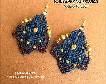 MOTHERS DAY GIFT, Micro Macrame Tutorial, Diy Macrame Pattern, Diy macrame, Video Tutorial, Earrings Tutorial, Diy Jewelry Tutorial, For Her