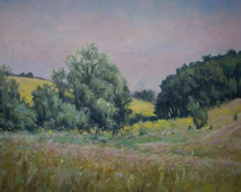 May Day  - original oil painting, landscape oil artwork