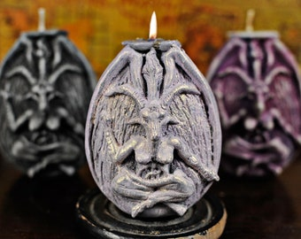 "Baphomet ""Celestial Passion"" Opalescent Vegan Soy Candle, Love, self love, romance, unicorn colored"