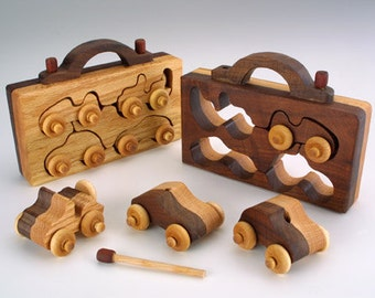 4-Pack Wooden Toy Handmade