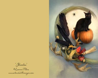 Shadow - Halloween 5 x 7 Greeting Card with Envelope