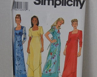 Simplicity 8473 Dress with Overskirt UNCUT Size 6,8,10