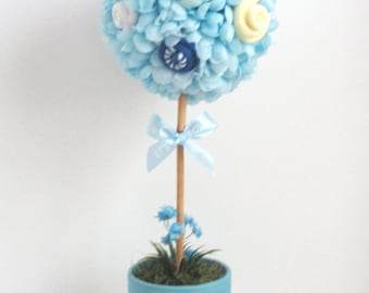 Baby shower centerpiece baby shower boy topiary unique baby boy shower centerpiece baby shower topiary new baby gift new mom gift negle Gallery