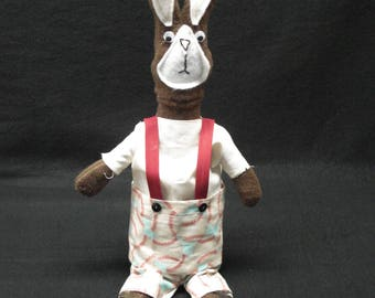 """Peter Cottontail inspired Rabbit Coin-Bank. Choice of """"boy"""" or """"girl"""""""