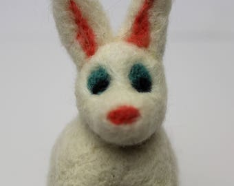 White Bunny with blue eyes