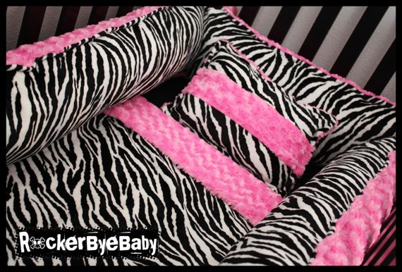 Items Similar To Custom Four Piece Minky Crib Bedding Set